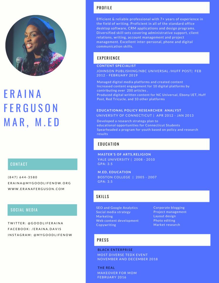 Eraina Ferguson.CV